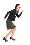 Fullbody young Asian female running Royalty Free Stock Photo