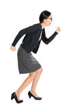 Fullbody young Asian girl running Royalty Free Stock Photo
