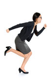 Fullbody young Asian woman running royalty free stock photos