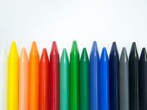 Fullcolor crayon horizontal align irregular Royalty Free Stock Images