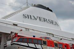 Fullel del barco de cruceros de Silversea Fotos de archivo