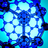 Fullerene composed of carbon atoms on glass representation Stock Photo