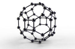 Fullerene molecule Royalty Free Stock Images