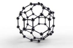 Fullerene molecule royalty free illustration