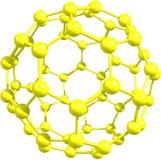 Fullerenemolekyl Arkivbild