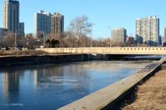 Fullerton Avenue Bridge Royalty Free Stock Image