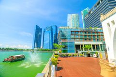 Fullerton Bay Hotel Singapore Royalty Free Stock Photography