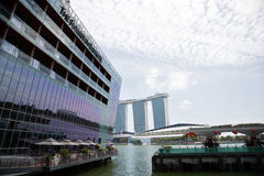 The Fullerton Bay Hotel on the waterfront Marina Bay Royalty Free Stock Photography