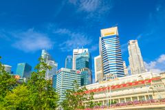 Fullerton Hotel Singapore Royalty Free Stock Images