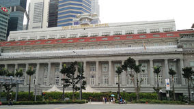 The Fullerton Hotel in Singapore stock photography