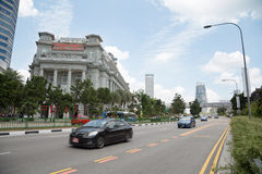 The Fullerton Hotel in Singapore Stock Photos