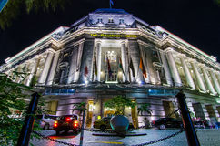 The Fullerton Hotel. Singapore is a five-star luxury hotel located near the mouth of the Singapore River, in the Downtown Core of Central Area, Singapore. It Stock Photos