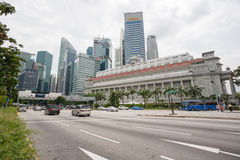 The Fullerton Hotel in Singapore Stock Photos