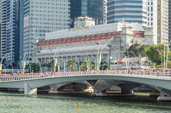 The Fullerton Hotel stock photography