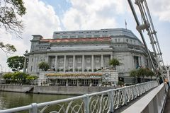 The Fullerton Hotel, Singapore stock images