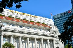 The Fullerton Hotel Singapore royalty free stock image