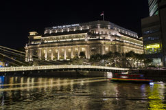 Fullerton hotel - Singapur Obraz Royalty Free