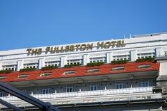 Fullerton hotell i Singapore Royaltyfria Bilder