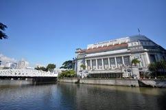Fullerton hotell i Singapore Arkivfoton