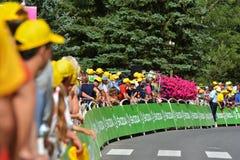 Fullföljande av thetapp 17 i den Serre chevalieren, Tour de France 2017 Arkivbild