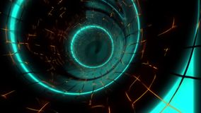 FullHD  video of abstract power tunnel stock footage
