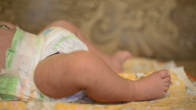 FullHD video of newborn baby's feet stock video