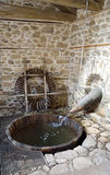 Fulling tub of Agios Germanos traditional mill Stock Image