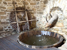 Fulling tub of Agios Germanos traditional mill Stock Photography