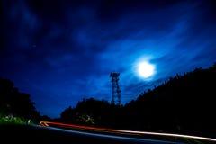 Fullmåne över Vermont rutt 17 Royaltyfri Fotografi