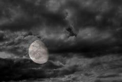 fullmåne 3 4 Arkivbilder