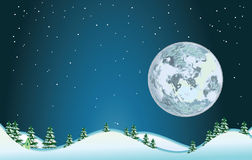 fullmåne stock illustrationer