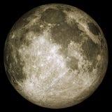 Fullmånen med ytbehandlar specificerar Arkivbild