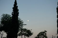 Fullmånen, Troia, Portugal Arkivbilder