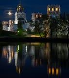 Fullmånes natt Fotografering för Bildbyråer