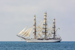 Fullrigger Cisne Branco Under Sail Royalty Free Stock Image