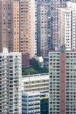 Fullsatt lägenhet i Hong Kong Arkivbild