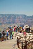 Fullsatt siktspunkt på den Grand Canyon nationalparken Royaltyfria Bilder