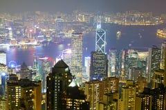 Fullsatt stad, Hong Kong Royaltyfri Fotografi