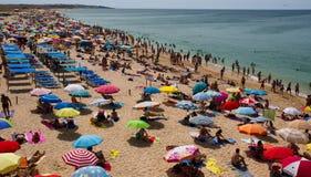 Fullsatt strand Fotografering för Bildbyråer