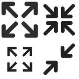Fullscreen symbol Royaltyfri Foto