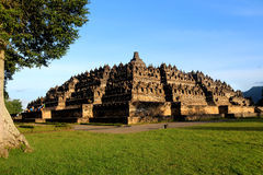 Fullsize of Borobudur. In Indonesia stock photo