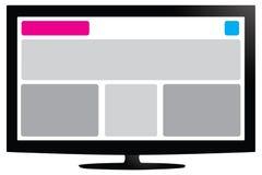 Fullständigt svars- design Arkivbild