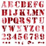 Fullt alfabet för Grunge Arkivfoto