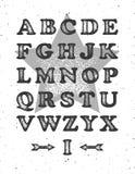 Fullt alfabet för Grunge Royaltyfria Foton