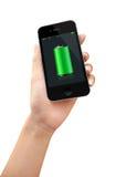 Fullt batteri för smart telefon Royaltyfria Bilder