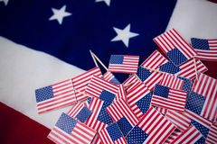 Fullt ramskott av flaggor royaltyfria bilder