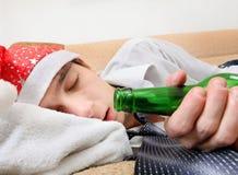 Fullt sova för tonåring royaltyfria foton