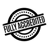Fully Accredited rubber stamp Royalty Free Stock Image