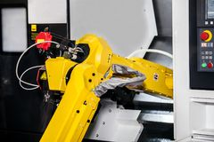 Fully automated CNC machining Royalty Free Stock Photo