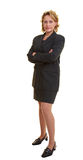 Fully body shot of woman. Fully body shot of a business woman with jacket Royalty Free Stock Image